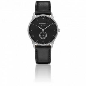 Reloj Signature Line Silver Black Sea Cuero Negro
