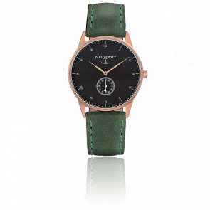 Reloj Signature Line Gold Rose Black Sea Cuero Verde
