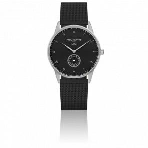 Reloj Signature Line Silver Black Sea Malla Milanesa Negra