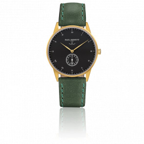 Reloj Signature Line Gold Black Sea Cuero Verde