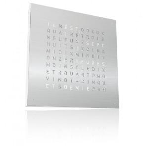 Reloj Qlocktwo Classic - Acero Inoxidable - 45 cm