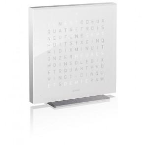Reloj Qlocktwo Touch aluminio - Vanilla Sugar - 13.5 cm