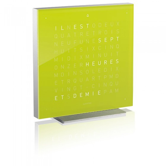 Reloj Qlocktwo Touch aluminio - Lime Juice - 13.5 cm