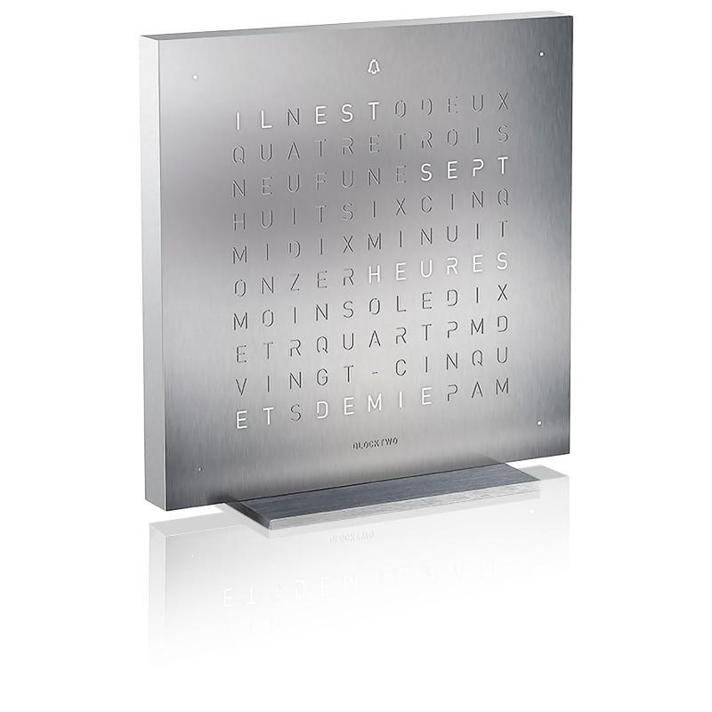Reloj Qlocktwo Touch Full Metal Edition - 13.5 cm