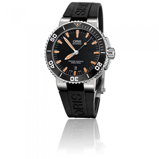 envio GRATIS a todo el mundo nueva precios más bajos ropa deportiva de alto rendimiento Reloj Oris Aquis Date automático negro y naranja - Ocarat
