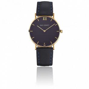 Reloj Sailor Line Gold Blue Lagoon Cuero Azul Marino