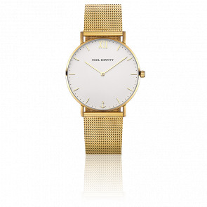 Reloj Sailor Line Gold White Sand Dorado