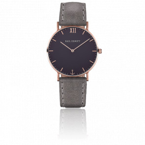 Reloj Sailor Line Rose Gold Blue Lagoon Cuero Gris