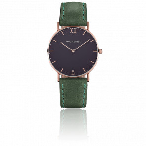 Reloj Sailor Line Rose Gold Blue Lagoon Cuero Verde