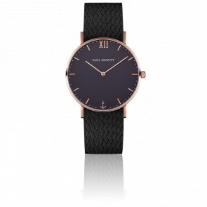 Reloj Sailor Line Rose Gold  Blue Lagoon  Perlon Negro