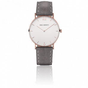 Reloj Sailor Line Rose Gold White Sand Cuero Gris