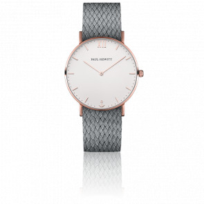 Reloj Sailor Line Rose Gold White Sand Perlon Gris