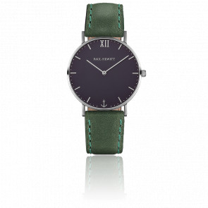 Reloj Sailor Line Silver  Blue Lagoon Cuero Verde