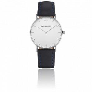 Reloj Sailor Line Silver White Sand Cuero Azul Marino