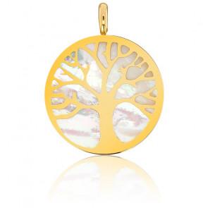 Colgante Árbol de la Vida - Nácar y Oro Amarillo