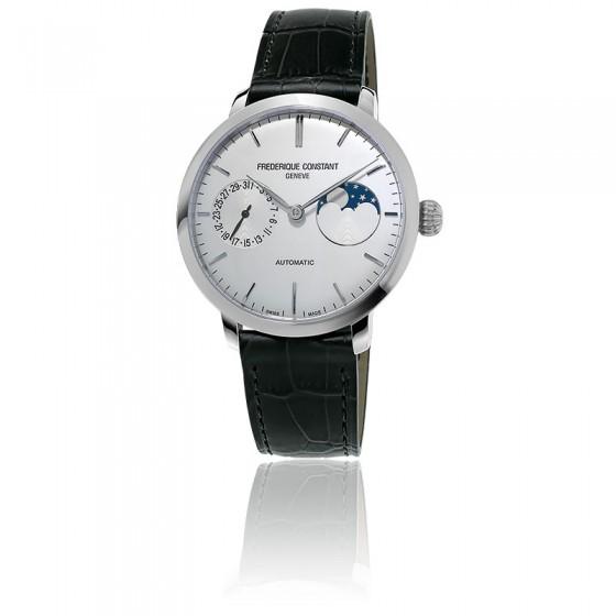 54a6bdec58b5 ... Frédérique Constant. Reloj Automático Slimline Moonphase FC-702S3S6
