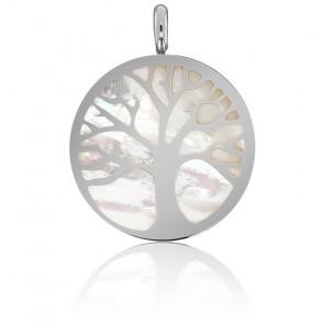 Colgante Árbol de la Vida - Nácar y Oro Blanco
