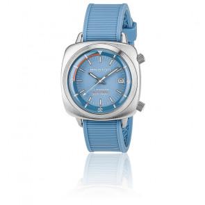 Reloj de buceo Clubmaster Diver Acero - Caucho azul