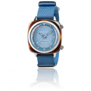 Reloj Clubmaster Diver Acetato Esfera Azul Cielo