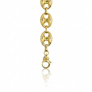 Cadena Calabrote Hueca Oro Amarillo 50 cm