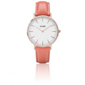Reloj La Bohème Rose Gold White / Flamingo CL18032