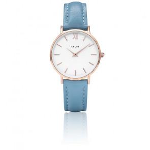 Reloj Minuit Rose Gold White / Retro Blue CL30046