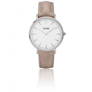 Reloj La Bohème Silver White / Hazelnut CL18234