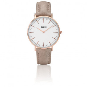 Reloj La Bohème Rose Gold White / Hazelnut CL18031
