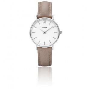 Reloj Minuit Silver White / Hazelnut CL30044