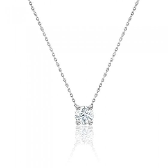 d0be1dea20ad Collar de Oro Blanco 18kts y Diamante Solitario - Ocarat