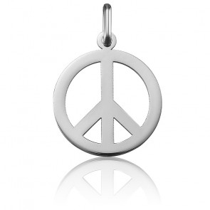 Colgante Peace And Love Oro Blanco 18K