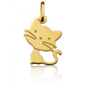 Colgante Gatito Oro Amarillo 18K