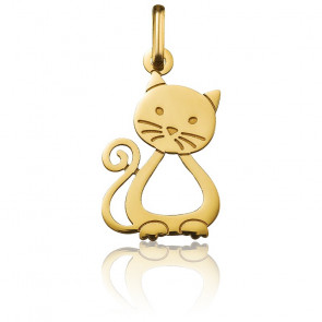 Colgante Gatito calado Oro Amarillo 18K
