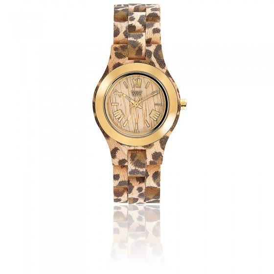 32f422b4c6b5 Reloj de madera WeWood Criss MB Leopardo Beige Gold - Ocarat