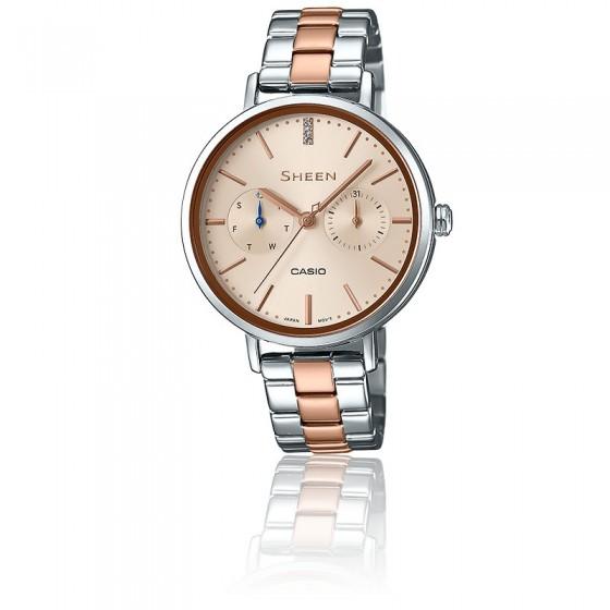 4146bb6c5bb1 Reloj de acero de mujer SHE-3054SPG-4AUER - Casio Sheen - Ocarat