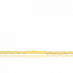Pulsera Personalizable 16 cm de Oro Amarillo con Cadena Marina