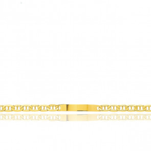 Pulsera Personalizable 20 cm de Oro Amarillo con Cadena Marina