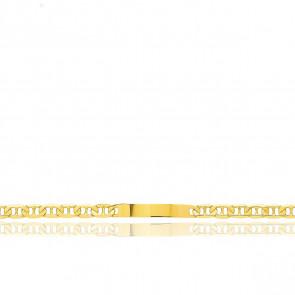 Pulsera Personalizable 21 cm de Oro Amarillo con Cadena Marina