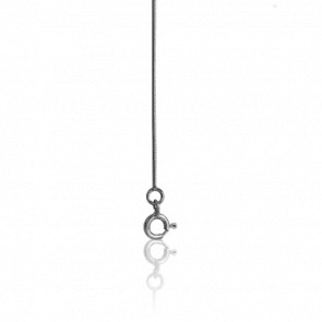 Cadena cola de topo redonda 40 cm Oro Blanco