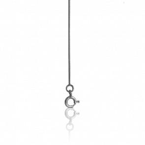 Cadena cola de topo redonda 50 cm Oro Blanco