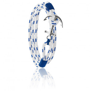 Pulsera de Ancla Royal Blue Plata