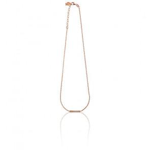 Collar de plata bañado en oro rosa Adèle