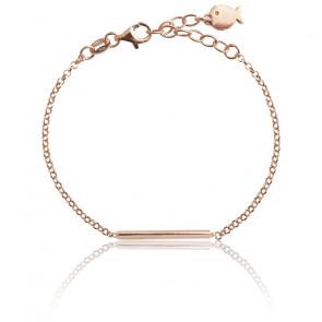 Pulsera de plata chapada en oro rosa Adèle