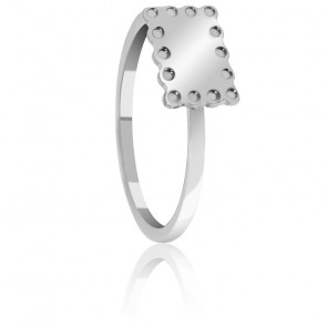 Anillo Mini Galleta Plata
