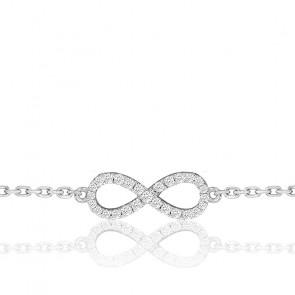 Pulsera Eternity Full Star Oro Blanco y Diamantes