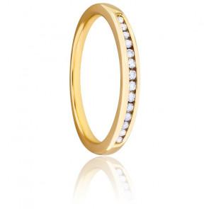 Alianza Oro Amarillo 9k y Diamantes G/SI, Cassandre
