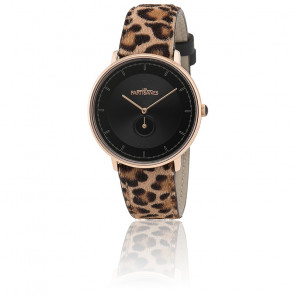 Reloj L'Amoureuse - Oro Rosa y Correa Leopardo AMO006