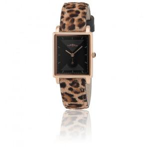 Reloj La Rétro - Oro Rosa Correa Leopardo RET004