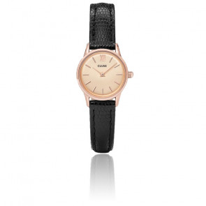 Reloj La Vedette Rose Gold Champagne / Black Lizard CL50028