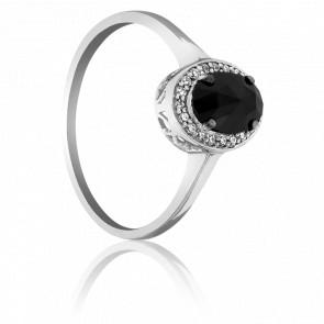 Anillo Dark Oval Diamante Negro 0.60 Quilates